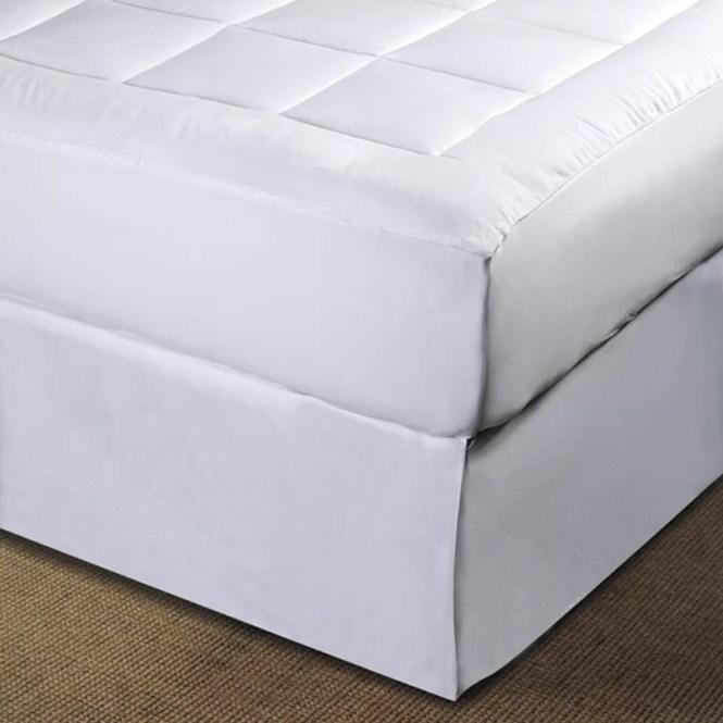 Micro Plush Pillowtop Polyester Mattress Pad