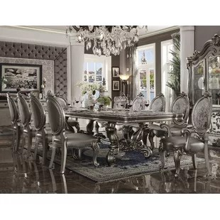 10 chair dining table set navy wingback slipcover astoria grand kitchen room sets you ll love wayfair welton 11 piece
