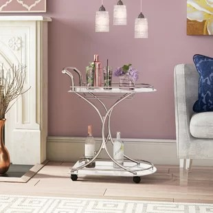 living room bar pictures of light grey rooms carts you ll love wayfair hansley cart