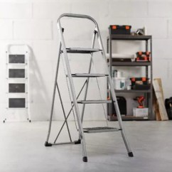 Kitchen Ladder Tiles Folding Step Wayfair Portable 4 Steel With 330lbs Capacity