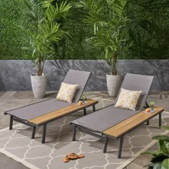 Reclining Patio Chairs And Table Grey Velvet Dining Chaise Lounge You Ll Love Wayfair Achillee Set With Of 2