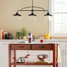 kitchen fixtures black table with bench you ll love wayfair lighting