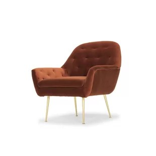 high back tufted chair wicker swing modern contemporary velvet allmodern quickview