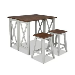 small pub table and chairs seat pockets for school with wayfair space living set