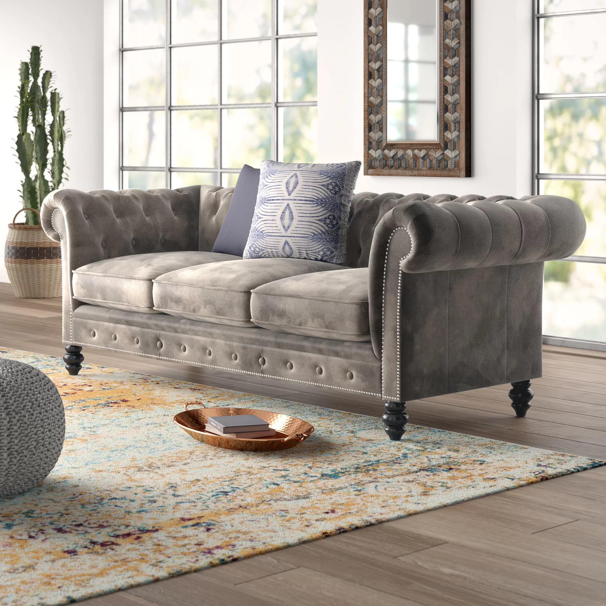 living room furniture brooklyn american tables mistana chesterfield sofa reviews wayfair