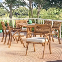 Beachcrest Home Coyne 7 Piece Dining Set With Cushions