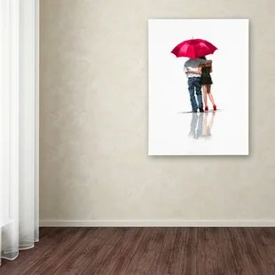 couple umbrella wall art wayfair