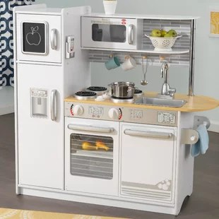 toddler play kitchens kitchenaid kitchen scale sets accessories you ll love wayfair uptown set