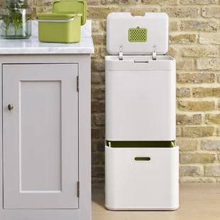 kitchen recycle bin large sinks trash cans recycling you ll love wayfair quickview