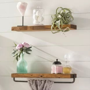pictures for kitchen wall renovated ideas display shelves you ll love wayfair drew 2 piece shelf set
