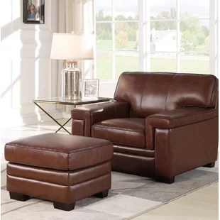 leather chair ottoman hobby lobby wedding covers included chairs you ll love wayfair quickview