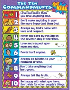 The commandments for kids chart also classroom charts you  ll love wayfair rh