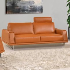 Burnt Orange Leather Living Room Furniture Paint Ideas For Pictures Sofa Wayfair