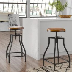 Stool Under Chair Leg Noise Reduction Farmhouse Bar Stools Birch Lane Wirksworth Adjustable Height Swivel Set Of 2