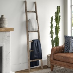 Living Room Blanket Holder Comfy Chairs For Wood Ladder Wayfair Wooden 6 Ft