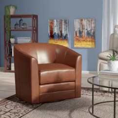 Swivel Chair Small Top Grain Leather Club Recliner Wayfair Quickview