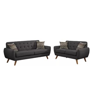 2 piece living room furniture rustic modern sets allmodern quickview