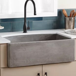 kitchen farm sink ikea table with drawers farmhouse sinks you ll love wayfair quickview