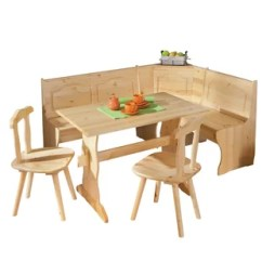 Kitchen Table And Corner Bench Solid Oak Island Dining Set Wayfair Co Uk Wamsutter With 2 Chairs Storage