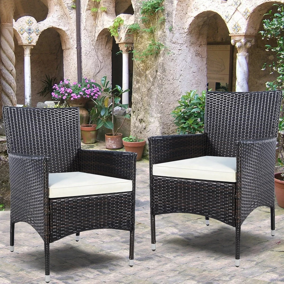 Outdoor Wicker Dining Chairs Duchesne Outdoor Wicker Patio Dining Chair With Cushion