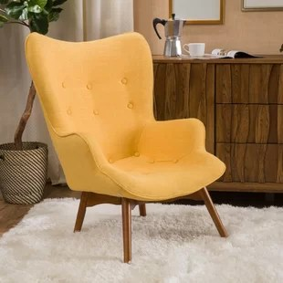 accent chair yellow lounge dimensions bright wayfair quickview