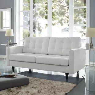 white tufted leather sofa sectional sofas lazy boy you ll love wayfair quickview