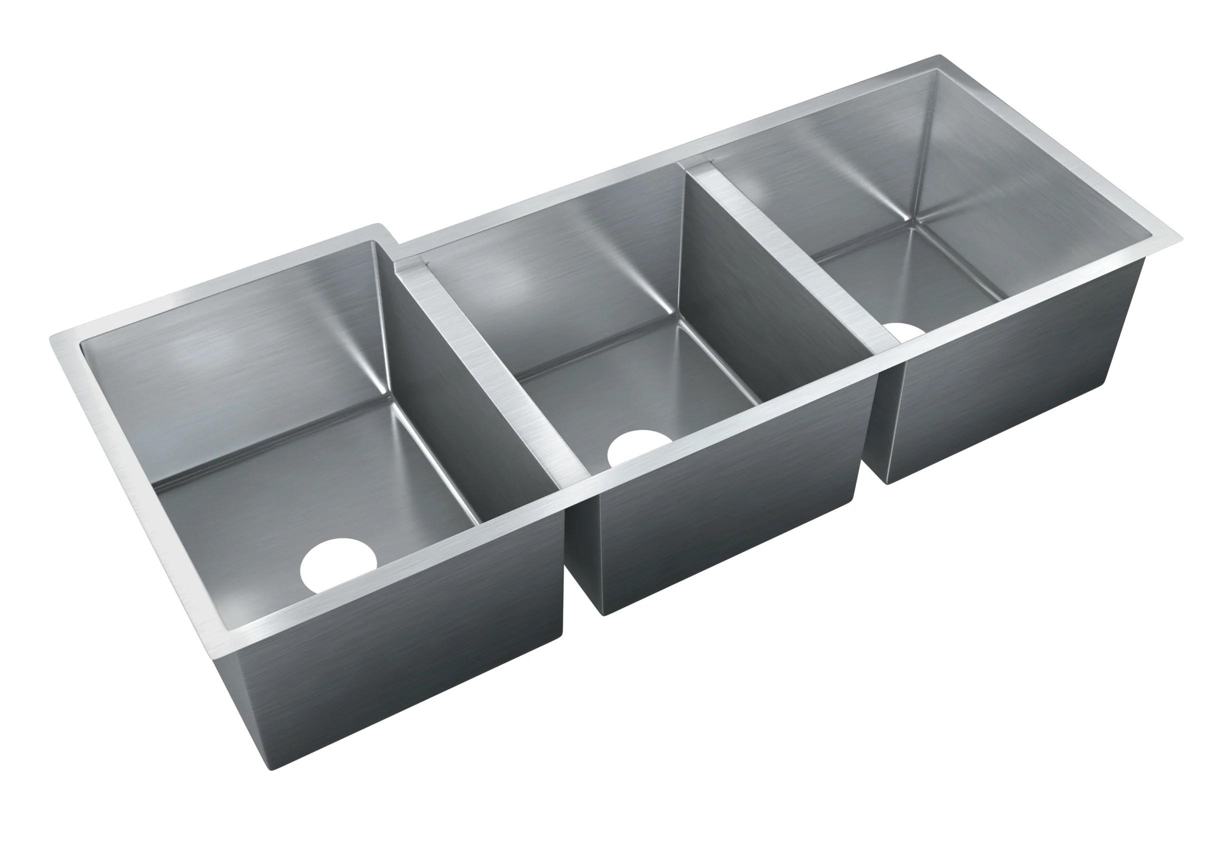 triple sink kitchen green egg outdoor sinks you ll love wayfair quickview