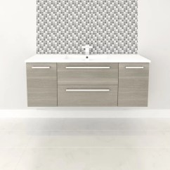 Cutler Kitchen And Bath 2 Seat Table Silhouette 48 Wall Mounted Single Bathroom Vanity Set