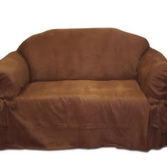 Faux Suede Sofa Cover Best Covers For Moving Textiles Plus Inc Loveseat Slipcover And Reviews