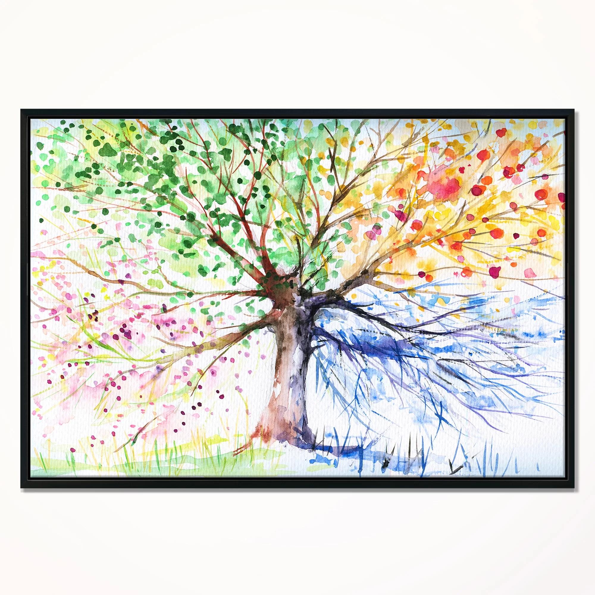 four seasons tree framed