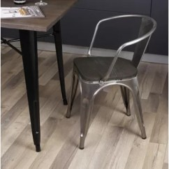 Rustic Metal Dining Chairs Little Tikes Swivel Chair Wayfair Anni