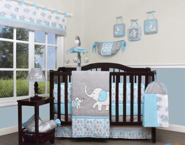 Geenny Blizzard Elephant 13 Piece Crib Bedding Set &