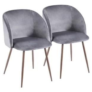 modern gray dining chairs ergonomic chair standards contemporary grey velvet allmodern quickview
