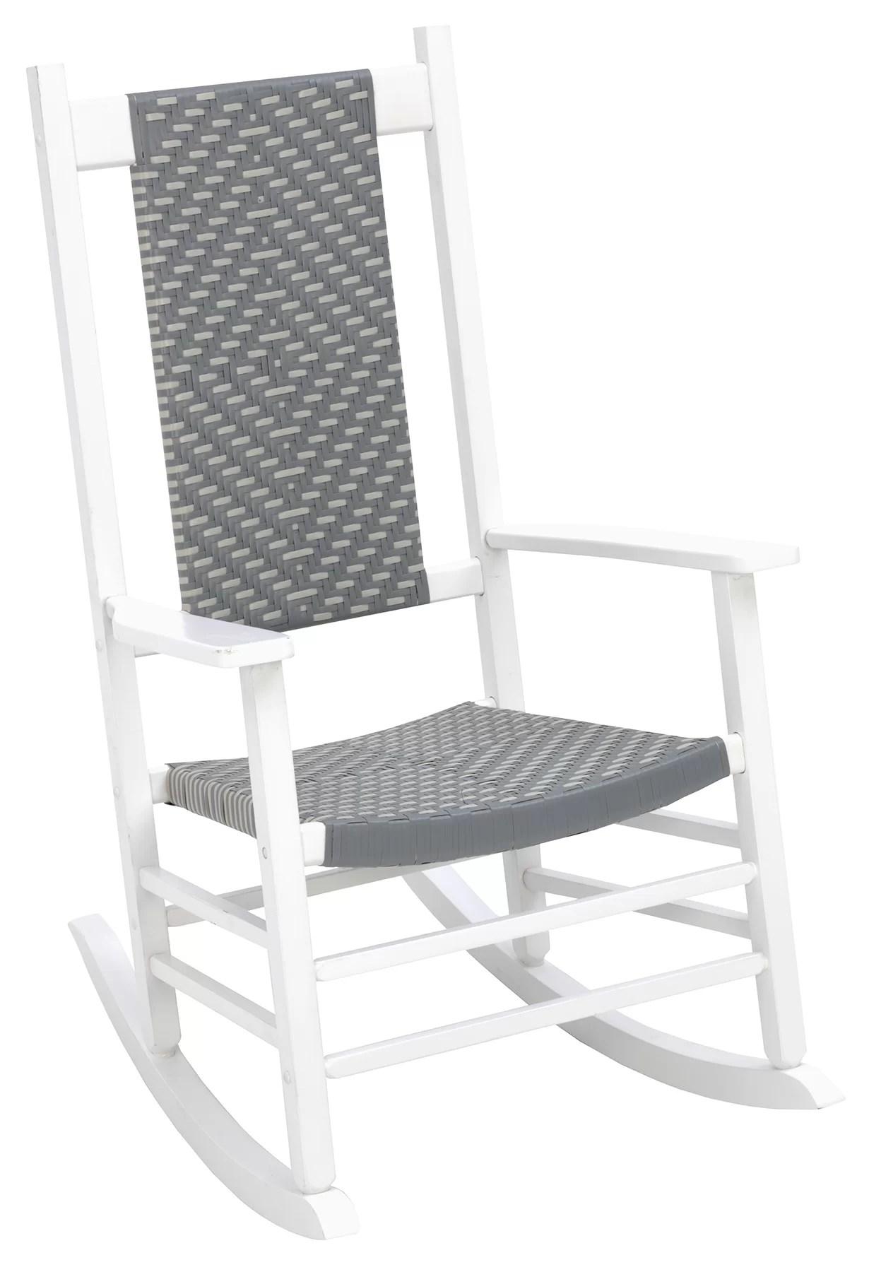 woven rocking chair cotton office covers highland dunes aren wayfair