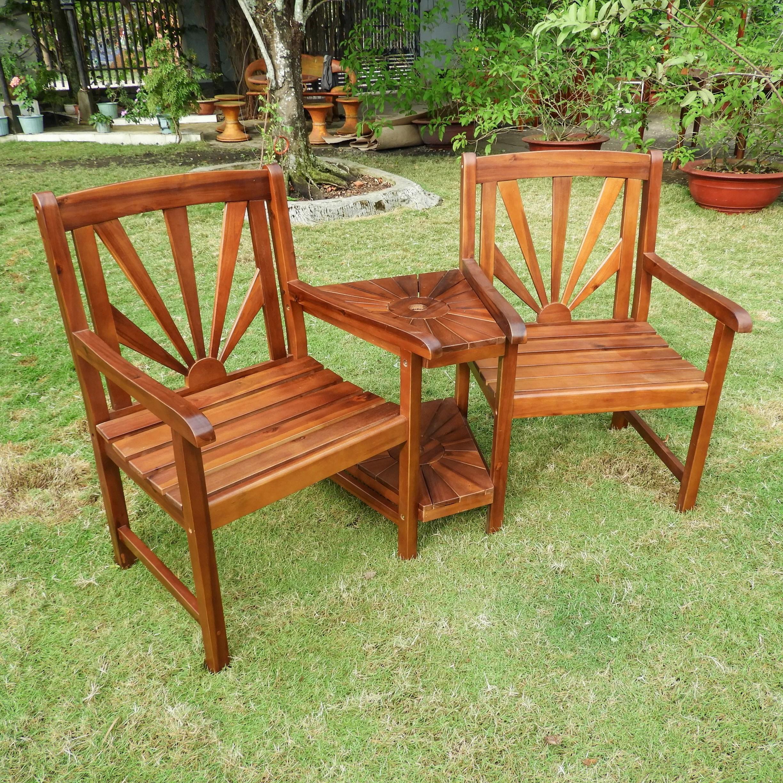 tete a chair outdoor portable chairs august grove gabbert wood bench wayfair