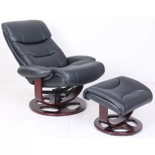 reclining chair with ottoman leather pong ikea recliners you ll love wayfair quickview