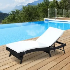 Poolside Lounge Chairs Workout Ball Chair Benefits Outdoor Mesh Wayfair Alvina Reclining Chaise With Cushion