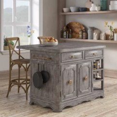 Grey Kitchen Island How Much Does It Cost To Remodel A Small Gray Wood Islands Carts You Ll Love Wayfair Artrip 3 Piece Set