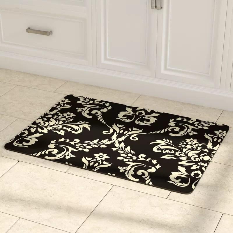 kitchen rug small remodeling ideas astoria grand justina damask mat reviews wayfair