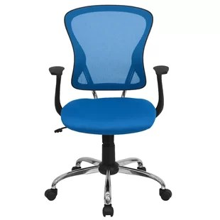 blue office chair human touch covers chairs you ll love wayfair quickview black