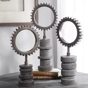 gear sculpture wayfair