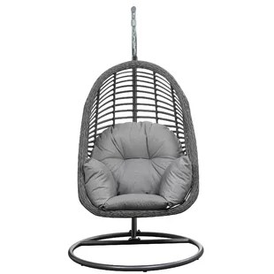 hanging chairs with stand for bedrooms outdoor chair elderly bedroom wayfair pothier basket spuncrylic swing