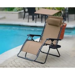 Xl Zero Gravity Chair With Canopy Footrest Folding Asda Oversized Wayfair Quickview