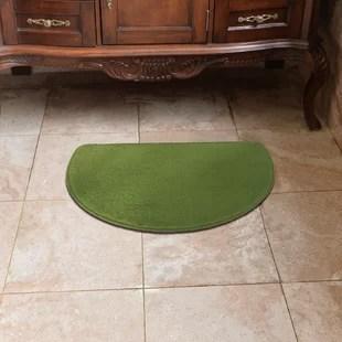 green kitchen mat drain pipe mats you ll love wayfair ca luxury slice