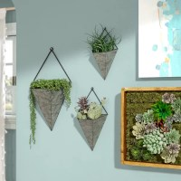 Ivy Bronx Amoroso Triangular Galvanized 3-Piece Metal Wall ...