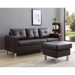 Aspen Convertible Sectional Storage Sofa Bed Leather And 2 Chairs Wayfair Quickview