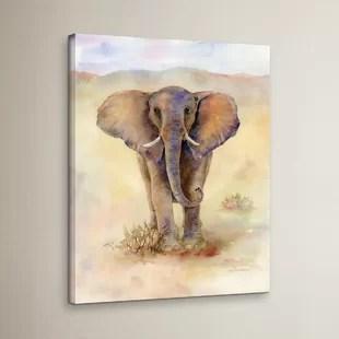 colorful elephant painting wayfair