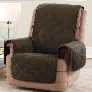 sofa with recliners slipcover apartment size furniture recliner slipcovers you ll love wayfair quickview