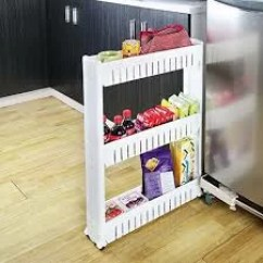 Kitchen Utility Carts White Hutches For Evideco 3 Tier Slim Rolling Multi Purpose Bathroom Cart
