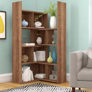 corner shelf for living room country colors bookcases you ll love wayfair quickview